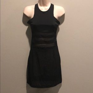 LF BSBW  Black Mesh Panels Bodycon Dress